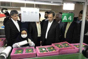 بازدید معاون اول رییس جهمور از خط تولید مودم های ایرانی U.TEL